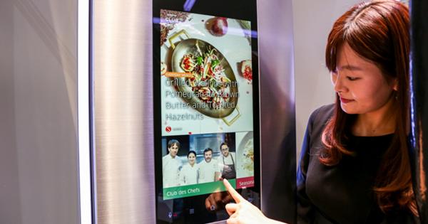 Samsung chladnička Family Hub s 21-palcovým displejom